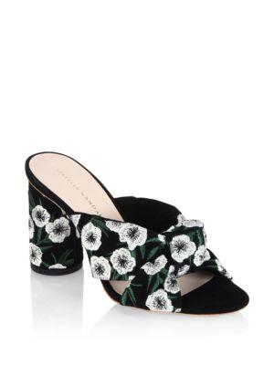 Loeffler Randall Embroidered Slide Sandals Buy Cheap Outlet t6K62tAROK