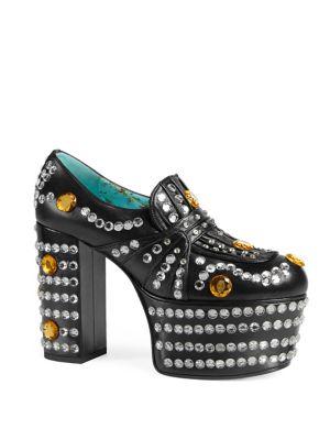 jHcaufi8Td Amilna Crystal Platform Loafer, Black
