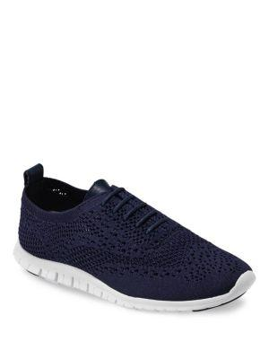 Zerogrand Stitchlite Oxford Sneakers Women'S Shoes, Marine Blue Fabric