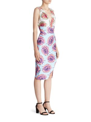 Altuzarra Woman Elida Wrap-effect Printed Cotton-blend Dress Blue Size 42 Altuzarra dX4Cicce9B