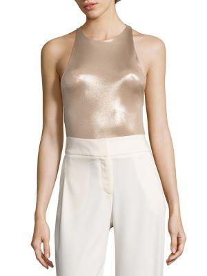 For Sale Online Store Purchase For Sale Halston Heritage Woman Cutout Lamé Bodysuit Silver Size L Halston Heritage Designer ScTnNe8Fy