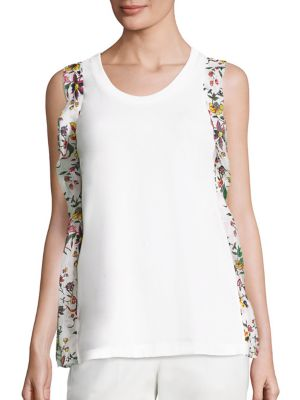 Outlet Brand New Unisex Sale Footlocker Floral silk-ruffle cotton-jersey tank top 3.1 Phillip Lim Outlet Pay With Visa Pay With Visa Cheap Price Buy Cheap Recommend yvvPMlHU