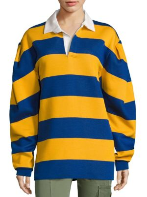 Discount Original Buy Cheap Marketable Marc Jacobs Striped Collared Sweatshirt Clearance Store Sale Exclusive Clearance Geniue Stockist nEXUo