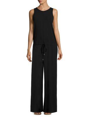 Yahney Rubric Drop-Waist Jumpsuit, Black