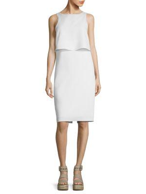 Eliza Side-Slit Tank Dress in White