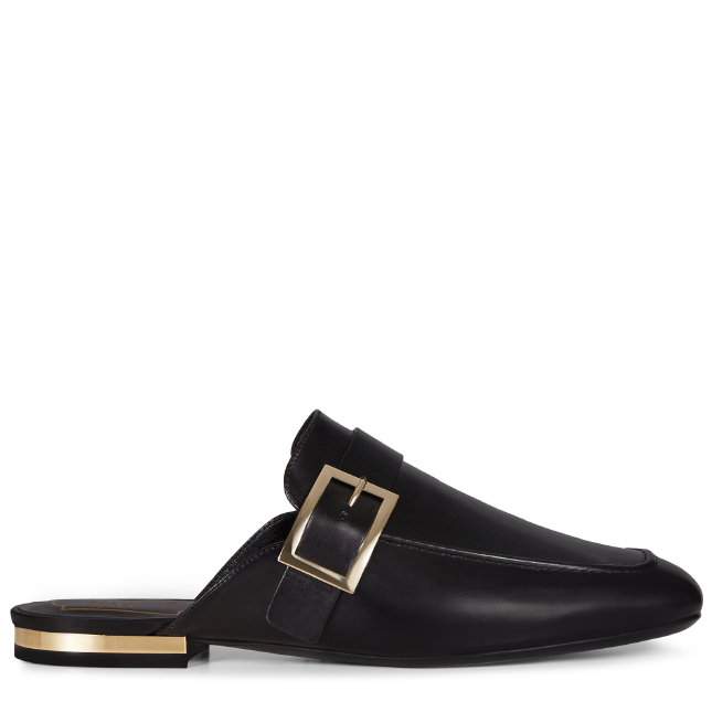 Roger Vivier Mule Leather Buckle