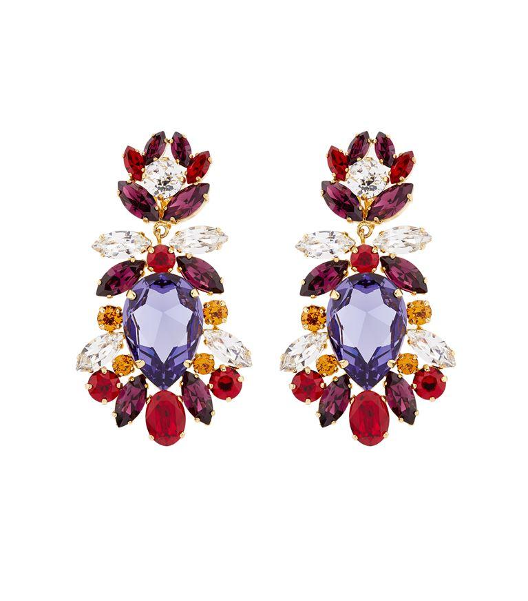DOLCE & GABBANA Crystal Clip-On Earrings, Multi