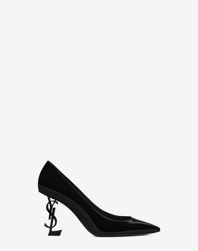 Opyum Patent 110Mm Ysl-Heel Pumps - Tonal Hardware, Black Patent
