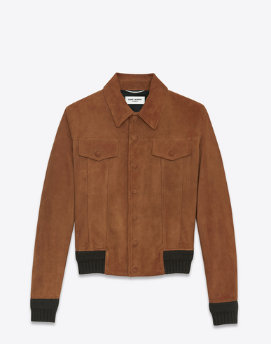 Jean Jacket In Cognac Suede