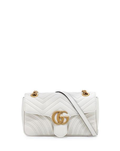 GUCCI Gg Marmont Small MatelassÉ Shoulder Bag, Black in Natural