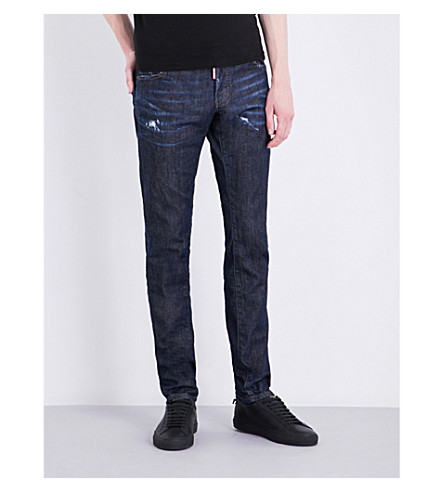 DSQUARED2 Slim-Fit Tapered Jeans, Blue