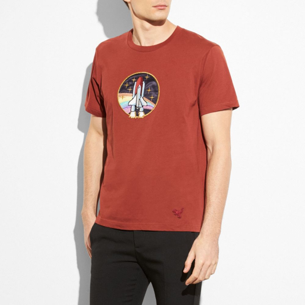 6a863b42 COACH Rocket Shuttle T-Shirt, : Red Oak | ModeSens