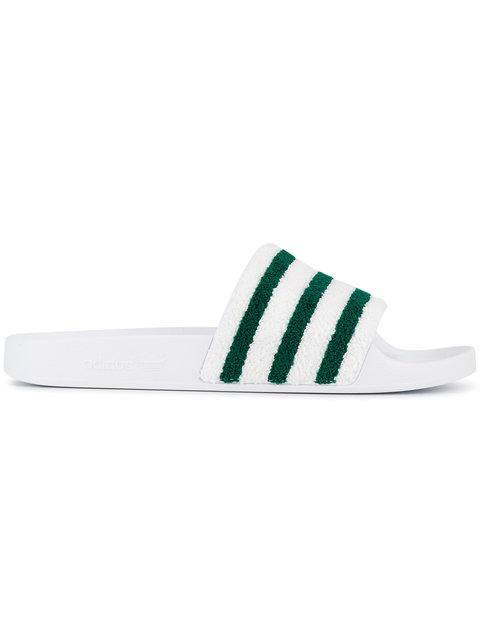 Adilette Comfort Slide Sandal, White/Black