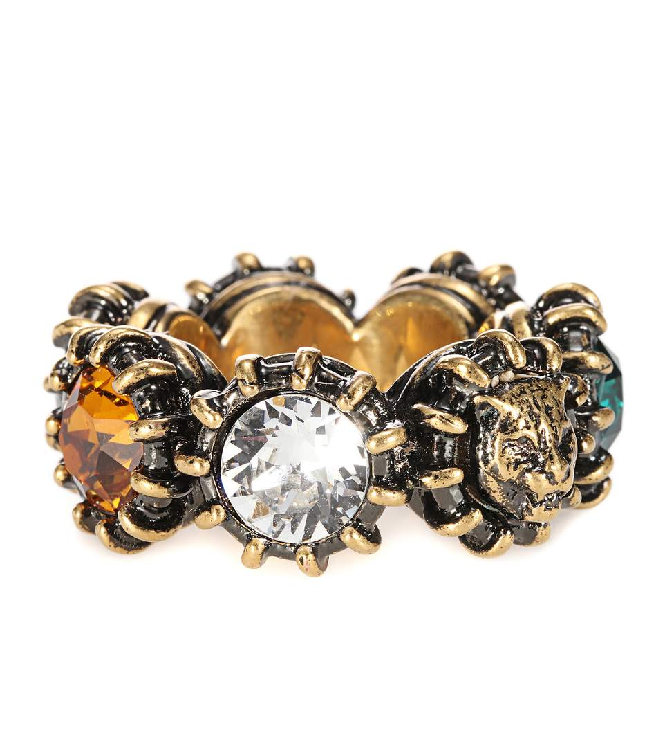Gucci Crystal-embellished ring mzGeH