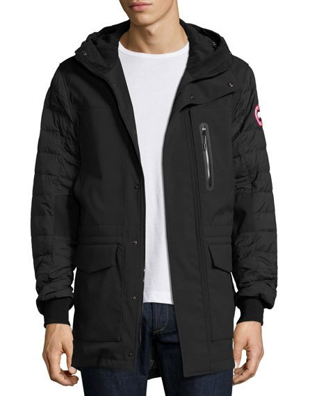 CANADA GOOSE Selwyn Quilted Puffer Coat, Black