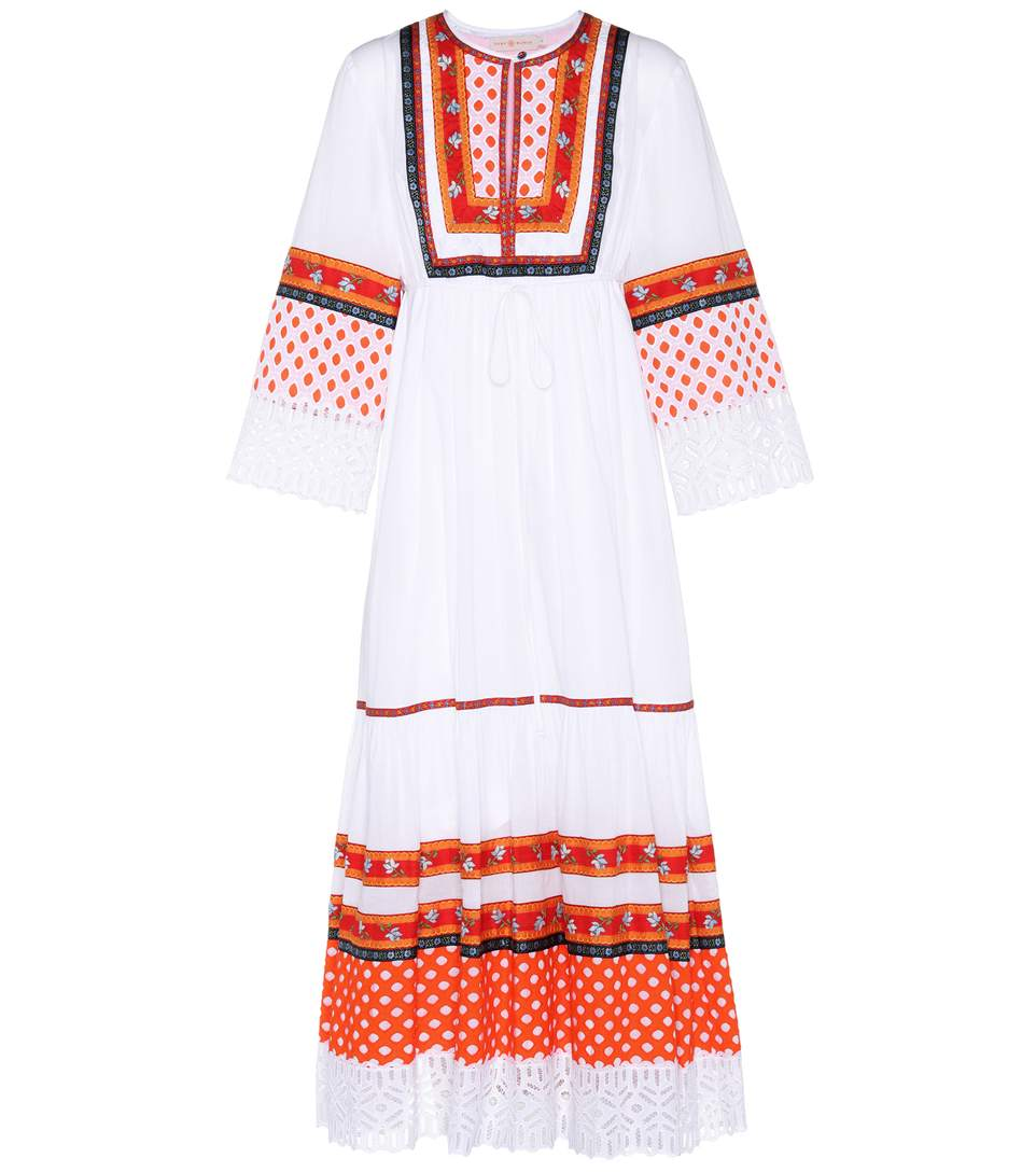 Tory Burch Woman Annalise Lace-trimmed Embroidered Cotton-voile Midi Dress White Size 2 Tory Burch R6yIvbxb