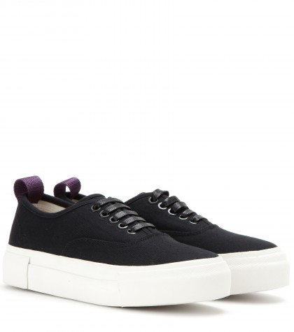 Mother Black Canvas Trainers, Llack