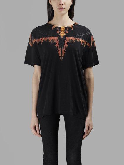 Marcelo Burlon - County Of Milan Women'S Black Tokanki Fitted T-Shirt