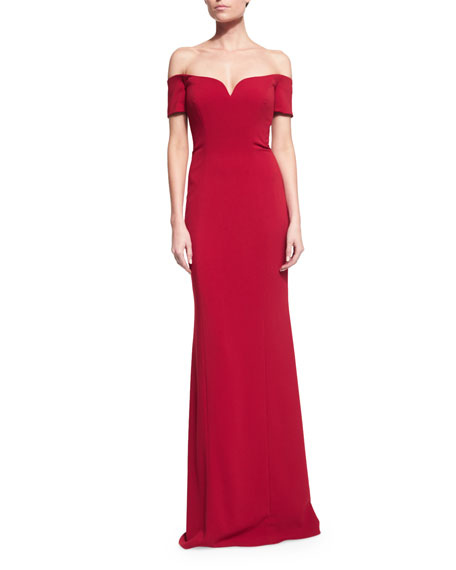 Top Quality Online Badgley Mischka off-the-shoulder gown Cheap Sale Footaction Sale Inexpensive Online Cheap lwTjg