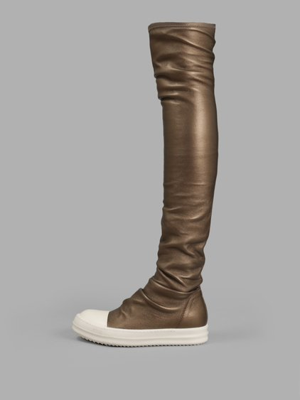 Rick Owens Women'S Gold Stocking High Sneakers
