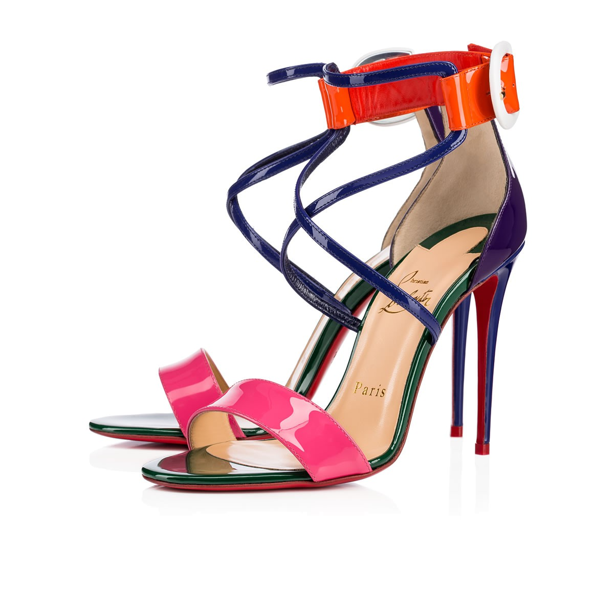 Clearance Explore Clearance Pictures Christian Louboutin 2017 Patent Choca Sandals Reliable Cheap Online QfxQUpnmY