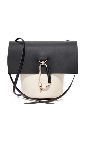 Belay Color Block Leather Crossbody, Black
