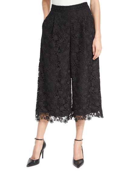 Holly Lace Culottes, Black