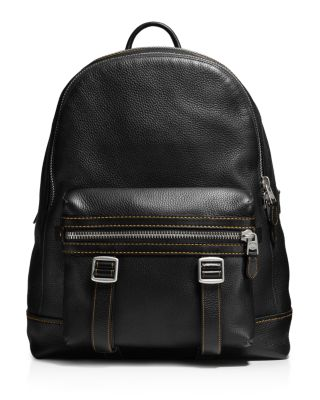 COACH 1941 Flag Backpack In Pebble Leather in Black