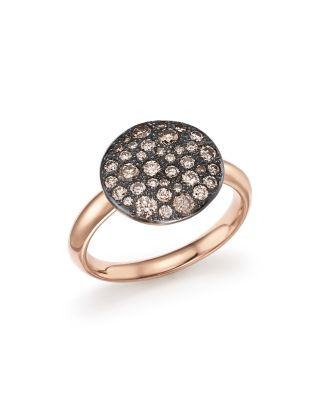POMELLATO Sabbia Ring With Brown Diamonds In Burnished 18K Rose Gold in Brown/Rose