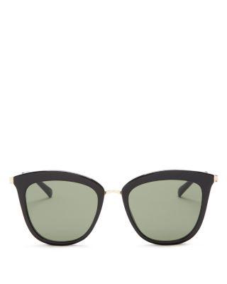 LE SPECS Caliente 53Mm Cat Eye Sunglasses - Black/ Gold
