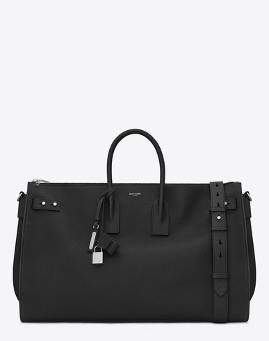 SAINT LAURENT Black Large Sac De Jour Duffle Bag