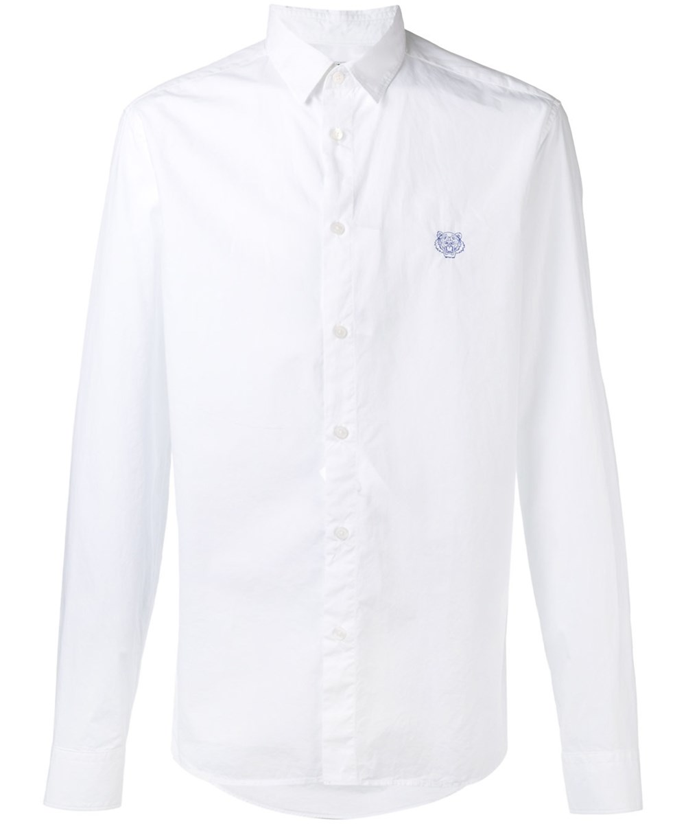 Kenzo Mens White Cotton Shirt Modesens