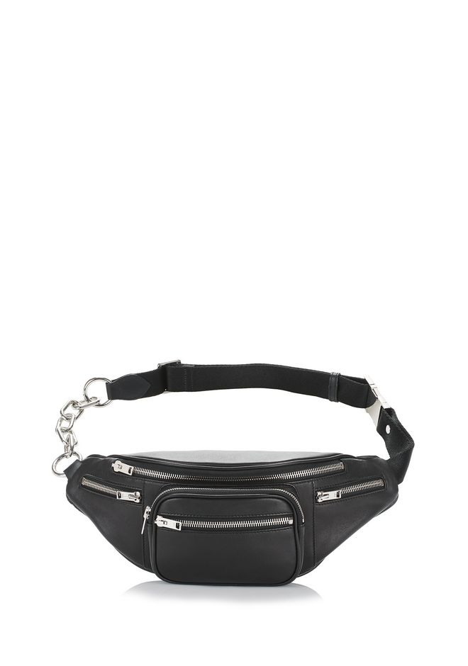 Attica  Washed Leather Belt Pack, Black