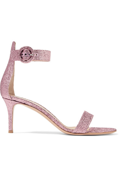Discount Shopping Online Free Shipping For Cheap Portofino 70 Suede Sandals - Baby pink Gianvito Rossi Visit New Sale Online m0r0J
