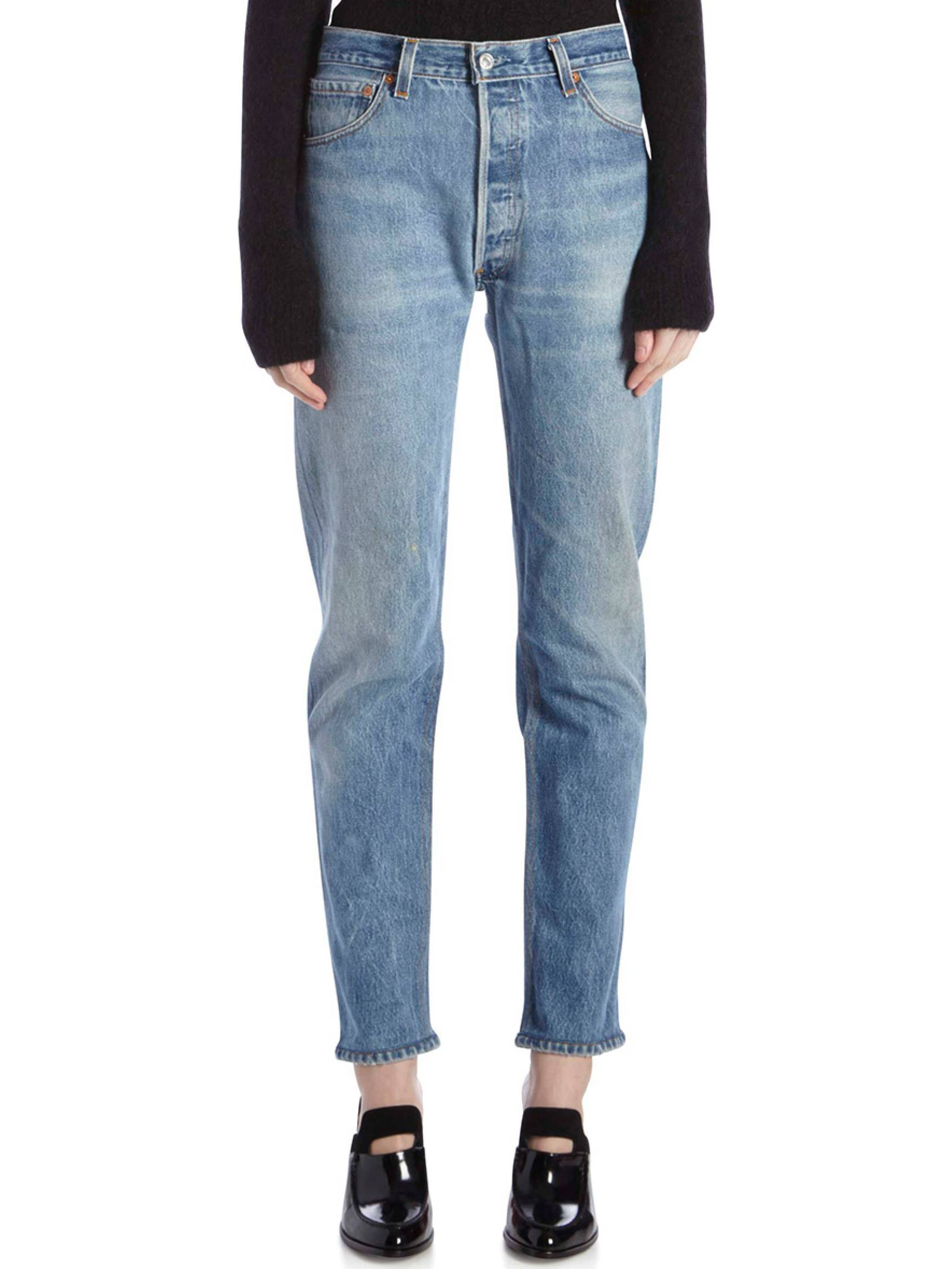The Crawford Mid-Rise Slim-Leg Jeans Re/Done Natural And Freely Wide Range Of Sale Online Outlet Recommend Wdniwv