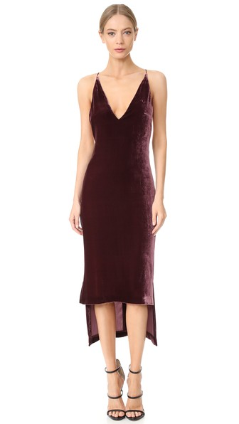Eastbay For Sale Free Shipping Collections Asymmetric Velvet Midi Dress - Merlot Dion Lee Outlet Where To Buy Free Shipping Low Cost i6NRuvEHEv