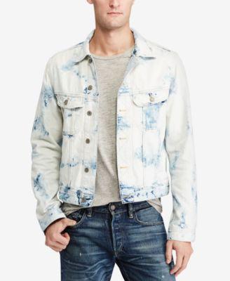 POLO RALPH LAUREN Men'S Denim Trucker Jacket in White