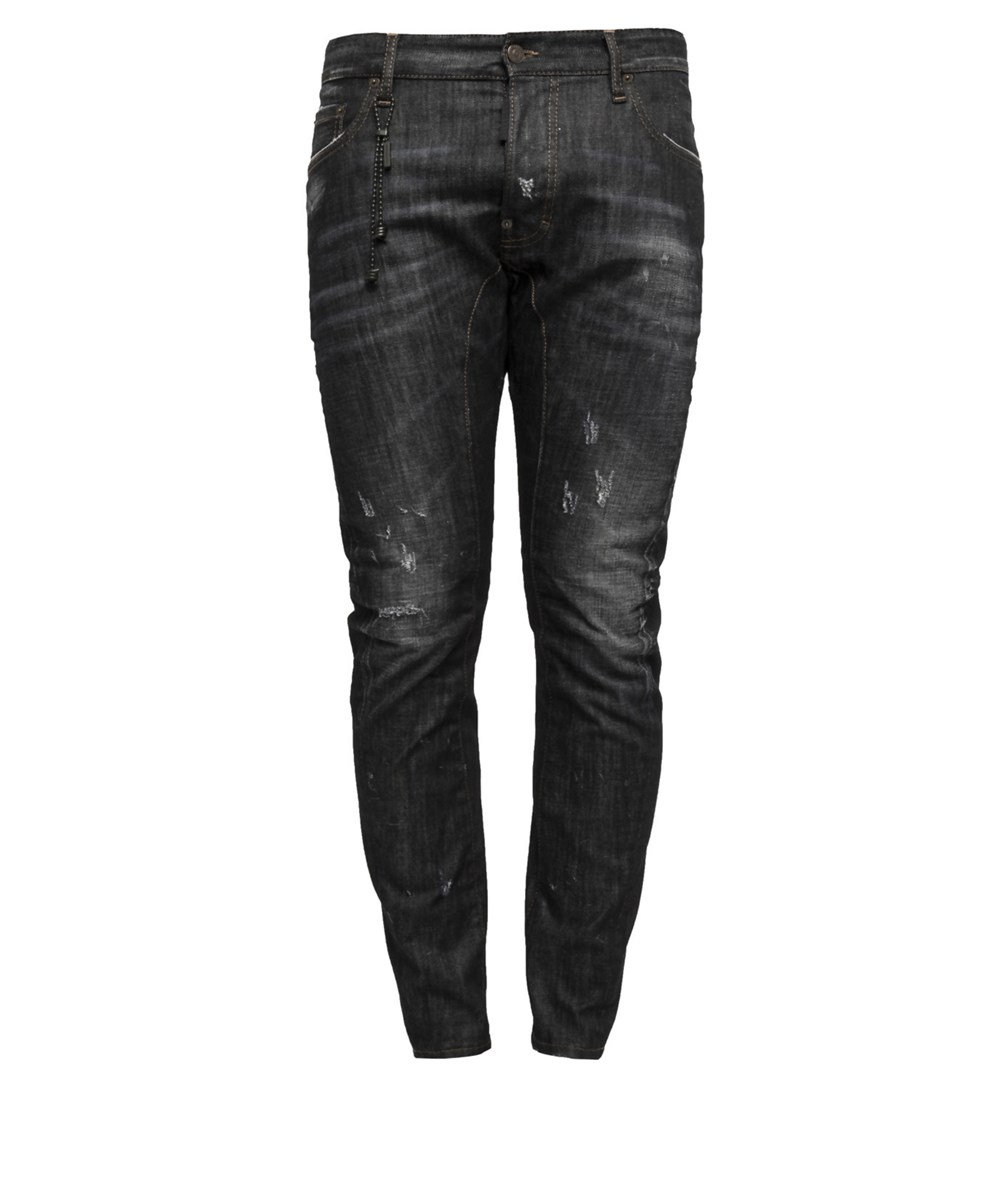 DSQUARED2 Men'S  Black Cotton Jeans'