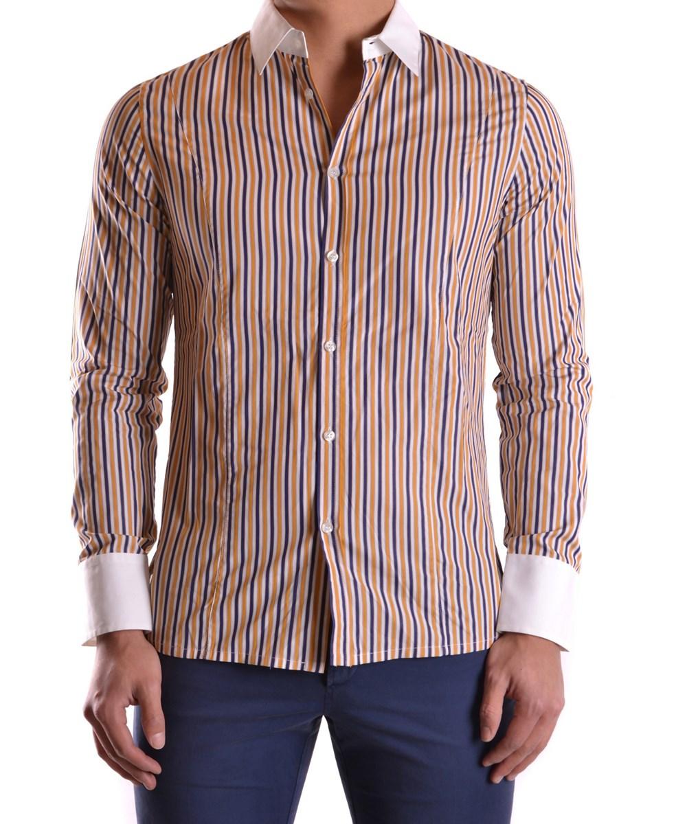 BIKKEMBERGS Men'S  Multicolor Cotton Shirt' in Multiple Colors