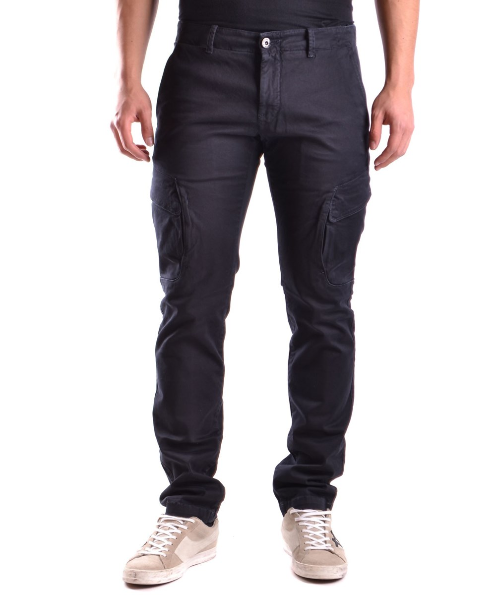STONE ISLAND Men'S  Blue Cotton Pants'
