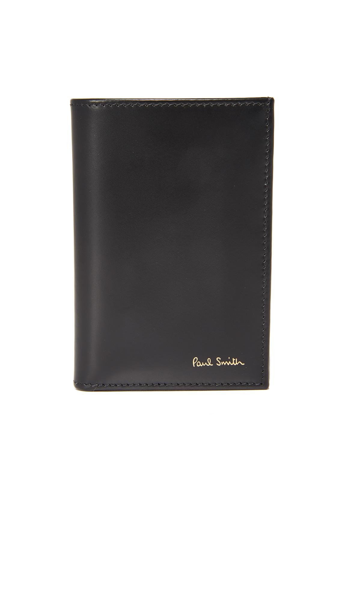 PAUL SMITH Interior Multi Stripe Wallet in Black
