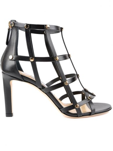 JIMMY CHOO Tina Studded Cage Sandals in Multicolour