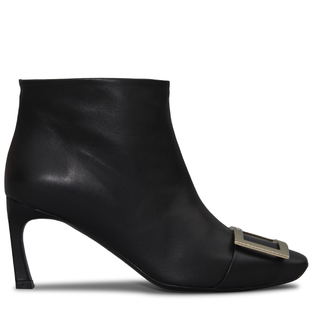 Belle Vivier Trompette Leather Ankle Boots in Black from Roger Vivier