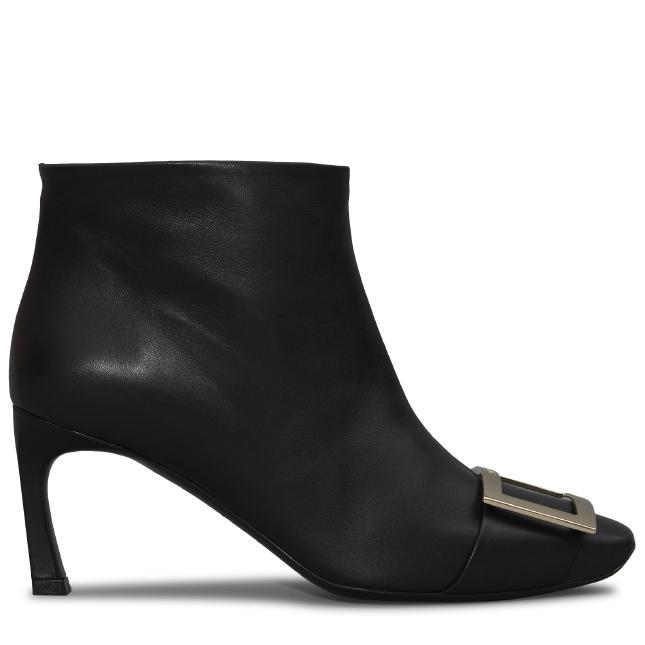 Belle Vivier Trompette Leather Ankle Boots, Black