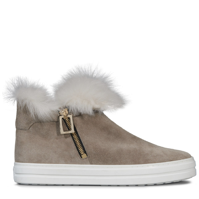 ROGER VIVIER Sneaky Viv' High-Tops In Suede And Fur