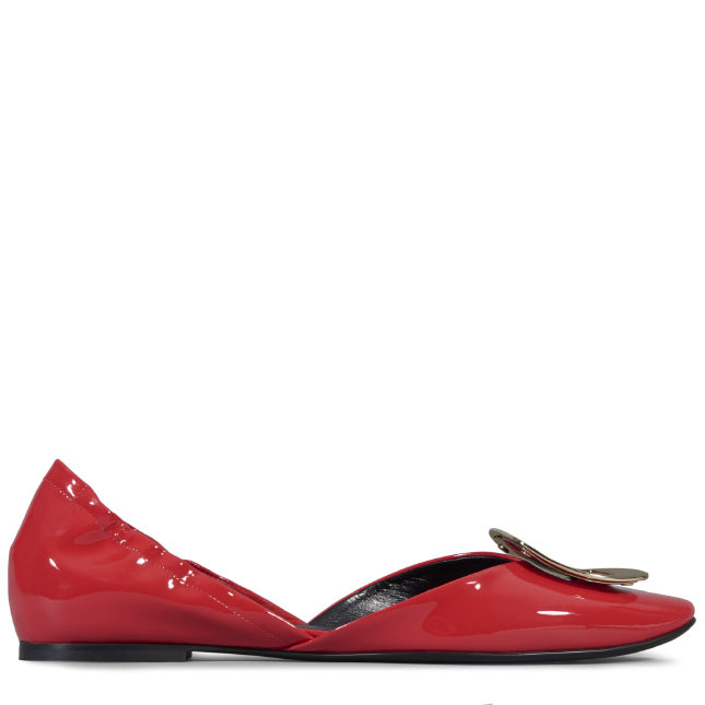 ROGER VIVIER Chips Ballerinas In Patent Leather