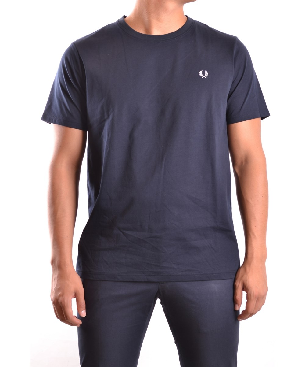 FRED PERRY Men'S  Blue Cotton T-Shirt'