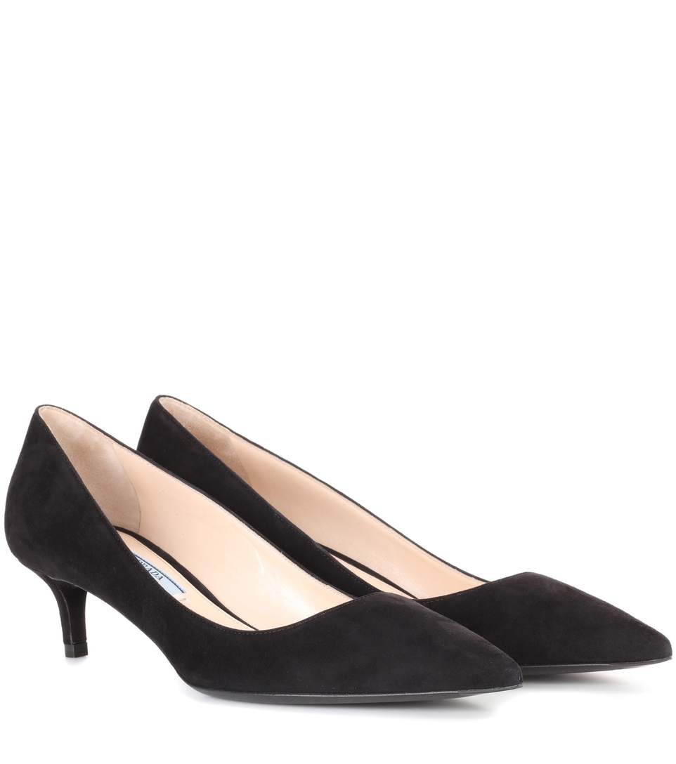 V'D-Throat Suede Pumps - Nero Size 9