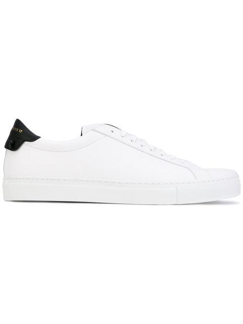 Urban Street Leather Tennis Sneakers in White