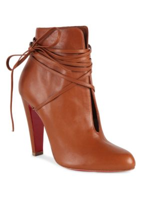 0d2502fe901 ... czech christian louboutin s.i.t. rain wrap red sole bootie brown cuoio  e70a6 3bba9